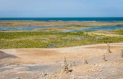 Atlantyk wybrzeże na wyspie Ile De Ponowny Obraz Stock