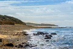 Atlantyk wybrzeże przy MER, Vendee, France Obrazy Stock