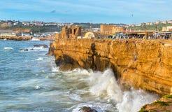 Atlantyk wybrzeże przy Safi miasteczkiem w Maroko Fotografia Royalty Free