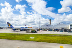 Atlas Air à l'aéroport de Miami Photo stock