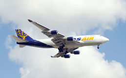 Atlas Air jumbo jet Royalty Free Stock Photography