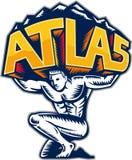Atlas-anhebender Gebirgsknienholzschnitt vektor abbildung