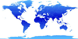 Atlas azul Imagens de Stock