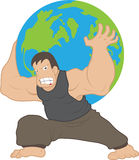 Atlas carrying earth Royalty Free Stock Photos