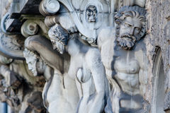 Atlas and Caryatid Stock Images
