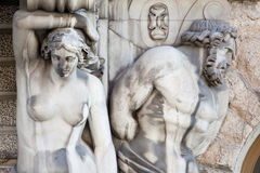 Atlas and Caryatid Stock Photos
