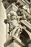 Atlas caryatid from Santa Maria dei Derelitti monumental church, Stock Photography