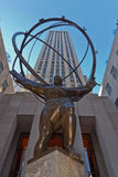 Atlas in Centrum Rockefeller royalty-vrije stock foto's