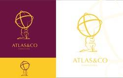 ATLAS, COLLECTIEF EMBLEEMontwerp Royalty-vrije Stock Afbeelding
