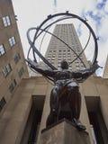 Atlas de centre de Rockefeller Images libres de droits