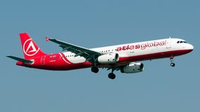 Atlas de TC-ETF global, Airbus A321-200 Photos libres de droits
