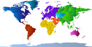 Atlas der Kontinente lizenzfreie abbildung