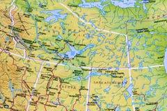 Atlas do mapa de Canadá do canadense foto de stock