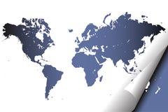 Atlas do mapa de mundo ilustração do vetor