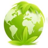 Atlas du monde - signe/bouton Photo stock
