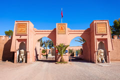 Atlas Film Studios. OUARZAZATE, MOROCCO - FEBRUARY 24, 2016: Ouarzazate Atlas Film Studios in Morocco. Moroccan Atlas Studios is one of the largest movie studios royalty free stock photo