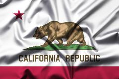 Flag of the Republic of California stock photo