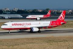 Atlas global, Airbus A321-231 de TC-AGI Imagens de Stock