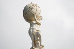 Atlas-Gott-Statue stockfoto