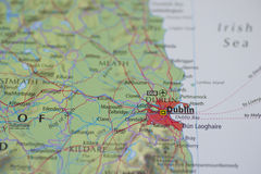 Atlas Map Dublin Stock Photo
