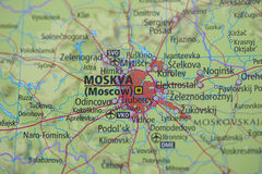 Atlas Map Moscow Royalty Free Stock Image