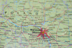 Atlas Map Warsaw Stock Photos
