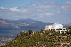 Atlas a Modern Hotel Building in Chefchaouen Stock Photo