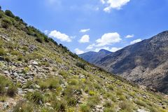 The Atlas montains in Morocco Royalty Free Stock Photos