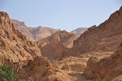 Atlas mountains. In Tunisia, close to the border with Algeria stock images