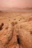 Atlas mountains. Rocky landscape in Atlas mountains, Morocco royalty free stock photos