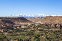 Atlas Mountains in Morocco, Africa. The Atlas Mountains is a mountain range which stretches across northwestern Africa extending about 2,500 km (1,600 mi) Stock Photos