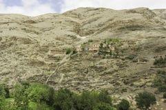 Atlas mountains. Morocco. The building in High Atlas Mountains Stock Photos