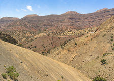 Atlas mountains. Morocco. The High Atlas Mountains. There is breathtaking view from the top of the pass Tizi nTichka Royalty Free Stock Images