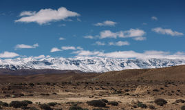 Atlas Mountains, Morocco. Panoramic view of Atlas mountains from the town of Midelt, Morocco stock photography