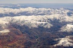 Atlas mountains from the plane Stock Photos