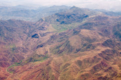 Atlas mountains from the plane Royalty Free Stock Image