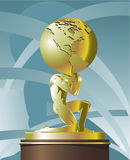 Atlas ondersteunend de Wereld royalty-vrije illustratie