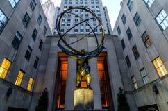 Atlas op Rockefeller-Centrum. Royalty-vrije Stock Afbeeldingen