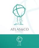 ATLAS, PROJETO INCORPORADO DO LOGOTIPO ilustração royalty free