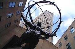 Atlas in Rockefeller Center Stock Photography