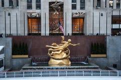 atlas Rockefeller centrum Manhattanu nowego Jorku fotografia royalty free