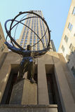 Atlas sculpture at the Rockefeller Center Stock Photography