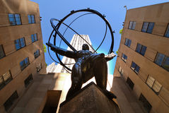 Atlas statue Stock Images