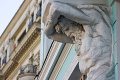 Atlas statue, architectural detail Stock Photos