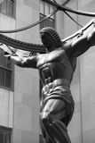 Atlas Statue Close-Up, New York royalty free stock image