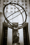 Atlas statue in front of Rockefeller Center Stock Photo