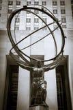 Atlas statue in front of Rockefeller Center Stock Photo