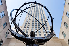 Atlas statue in front of Rockefeller center Stock Photography
