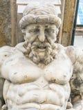 Atlas statue holding a portico Stock Image