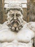 Atlas statue holding a portico Stock Photo